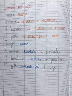 """Il verbo""classe seconda Sheet Music, Bullet Journal, Education, Blog, 3, Frases, Art, Music Score, Teaching"
