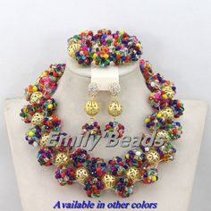 Find More Jewelry Sets Information about Colorful Nigerian Wedding Crystal Beads Necklaces Earrings Bracelet Jewelry Set African Jewelry Set Free Shipping AEJ017,High Quality jewelry boyfriend,China jewelry cube Suppliers, Cheap jewelry wire wrapping supplies from Emily's Jewelry DIY Store on Aliexpress.com