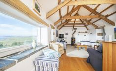 Perched high atop the dramatic cliffs of the North Cornwall coastline, Barretts Zawn offers a quintessential Cornish ambiance and unrivalled location. Sleeps up to ten guests. Large Holiday Homes, Home Cinemas, Luxury Interior Design, Cribs, Swimming Pools, Cottage, Outdoor Decor, Room, Port Isaac