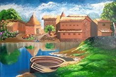 One afternoon by Riverside by Dipali Deshpande in the FASO Daily Art Show