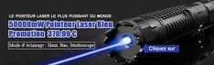 Cette puissance élevée pointeur laser bleu 50000mW émettent constamment puissant faisceau laser bleu est assez puissant pour atteindre dans un endroit intérieur ou extérieur.