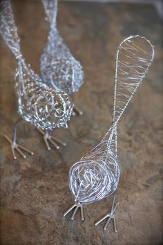 Our Wire Birds are waiting to make a cozy nest in your home. I put mine onto a grapevine wreath with moss and a little nest on my front door, as they wait patiently for spring to arrive. Chicken Wire Art, Chicken Wire Sculpture, Chicken Wire Crafts, Wire Art Sculpture, Paper Mache Sculpture, Steel Sculpture, Metal Sculptures, Abstract Sculpture, Bronze Sculpture