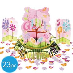 Tweet Baby Girl Baby Shower Centerpiece Kit - Party City $5.99 only one large center piece though