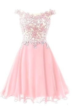 Homecoming Dresses Short Prom Dress Chiffon Cocktail Party Gowns for JuniorAppliques Beaded Dama Dresses, Junior Prom Dresses, V Neck Prom Dresses, Quince Dresses, Formal Dresses, Quinceanera Dresses, Homecoming Dresses Pink, Evening Dresses, Quinceanera Ideas