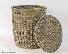 Hamper with lid, willow basket by Katherine Lewis
