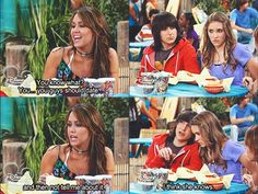 """You guys should date... and not tell me about it"" ""I think she knows"" Hannah Montana"