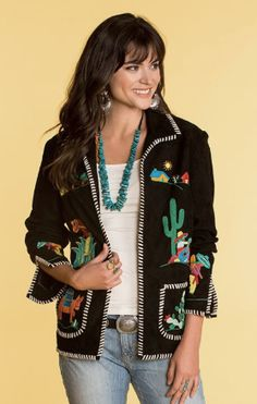 5ae8f82bcf39 DOUBLE D RANCHWEAR WOMEN'S DOWN MEXICO WAY EMBROIDERED JACKET