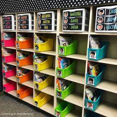 Classroom Mailboxes | Learning In Wonderland Kindergarten Classroom Decor, First Grade Classroom, Classroom Design, Classroom Themes, Future Classroom, New Teacher Classroom Ideas, Classroom Setting, Teacher Tips, Teacher Stuff