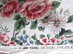 Jay Yang Polished Cotton Drapery Fabric French Versailles Rose Garlands by Yard | eBay