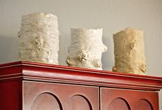 These 3 faux bois vases look over our front room. Decor, Furniture, Vase, Room, Front Room, Entryway, Entryway Tables, Faux