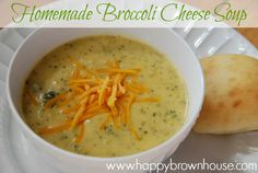 Homemade Broccoli Cheese soup recipe--So easy and yummy!