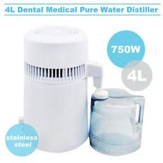 4L Dental Distiller Pure Water Filter Purifier System Distillateur D EAU 220V B   eBay