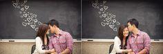 chalkboard, engagement photo