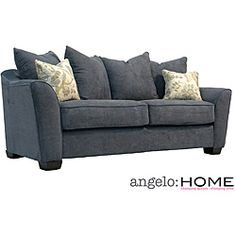 Angelo Home Cooper Twill Blue Stone Pillowback Sofa 661 99 12403795 Microfiber