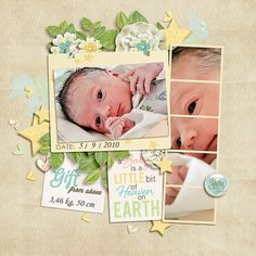 """Layout: Gift from Above by Lenka (Lenushenka) Template: SO September Challenge Template (2013) Reasons CTM Loves: """"The pictures are gorgeous and a creative use of the film strip frame"""""""