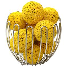 Yellow Large Decorative Balls by Angel Aromatics | Available from http://www.angelaromatics.com.au/scented-bowl-decorations/yellow-decorative-balls-to-hang-from-ceiling
