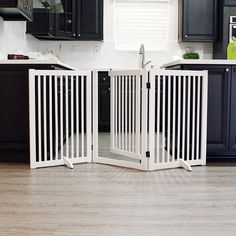 WELLAND Freestanding Wood Pet Gate with Walk Through Door White -- (paid link) You can get more details by clicking on the image.