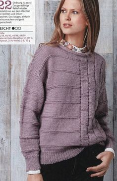 Three autumn pullovers with knitting needles🌺. Ladies Cardigan Knitting Patterns, Baby Boy Knitting Patterns, Sweater Knitting Patterns, Knitting Designs, Hand Knitting, Knitting Needles, Knitting Machine, Crochet Shirt, Knit Crochet