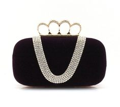 ImPrincess BAGS12055-z evening bag purple Rhinestone compound metal decorate with rhinestones -- See this great product.