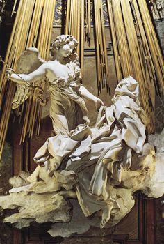 "femalebeautyinart: "" The Ecstasy of Saint Theresa Gian Lorenzo Bernini 1652 """