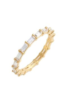 Judith Jack Stackable Cubic Zirconia Baguette Ring available at #Nordstrom