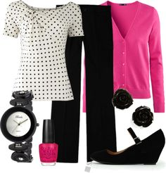 Teacher Outfits on a Teacher& Budget With my polka-dotted blouse and a red or black sweater (or khaki), I could do this. Teacher Outfits on a Teachers Budget With my polka-dotted blouse and a red or black sweater (or khaki), I could do this. Image Fashion, Work Fashion, Fashion Outfits, Womens Fashion, Curvy Fashion, Fall Fashion, Trendy Fashion, Fashion Tips, Fashion Trends