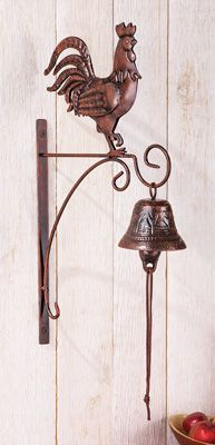 Country Rooster Dinner Bell Wall Decor