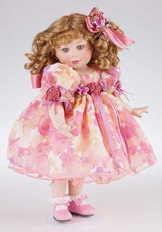 Marie Osmond Doll Carissa....Pretty hair prettYdress....