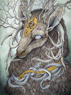 Caitlin Hackett illustrates contemporary mythology.