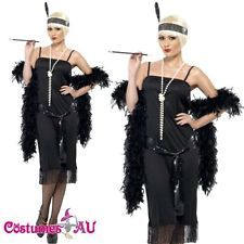Ladies Black Flapper Costume Charleston Gatsby Outfit Fancy Dress Up in Clothing, Shoes, Accessories, Costumes, Women's Costumes Fancy Dress Up, Fancy Dress Outfits, Gatsby Outfit, Black Fishnet Tights, Neon Tutu, Fringe Flapper Dress, 20s Dresses, Flapper Costume, Classic Style Women