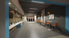 Conceptual Check-In Space for Parkwood Baptist Church - Gastonia, NC // Design and Rendering by Equip Studio (www.equipstudio.com)