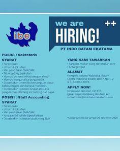 Lowongan Kerja Batam PT. Indo Batam Ekatama (10/12/2020) Batam, Industrial, Industrial Music