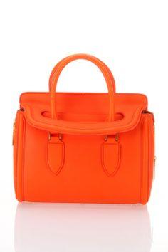 Alexander McQueen Small Heroine Handbag in Orange - Beyond the Rack