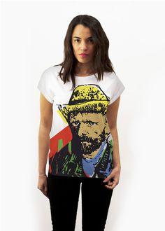 Handpainted tshirt inspired in van gogh #jossart- Cool t-shirt