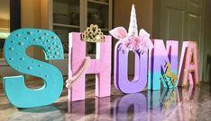 Letras de unicornio unicornio partido Foto Prop pieza Diy Letters, Wooden Letters, Unicorn Birthday Parties, Unicorn Party, Mermaid Birthday, Birthday Cakes, Birthday Decorations, Baby Shower Decorations, Free Standing Letters