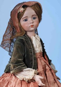56: EXTREMELY RARE FRENCH BISQUE DOLL BY ALBERT MARQUE : Lot 56. $125000-$185000