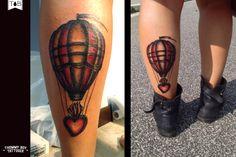 Hot air balloon for my girlfriend #thommyboytattooer #thommyboy #tattoo…