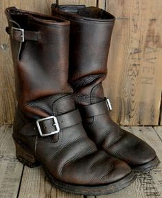 Vintage Engineer / Motorcycle Boots, vintage leather, vintage biker images, vintage clothing, miscellaneous vintage and whatever else interests me. Mens Biker Boots, Mens Shoes Boots, Biker Leather, Motorcycle Boots, Leather Boots, Men's Shoes, Shoe Boots, Vintage Biker, Vintage Boots