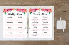 Such an easy way to save time and money! Get a jumpstart at the week ahead by using this free printable weekly meal planner to plan the next week's meals.