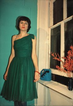 Nan Goldin - Vivienne In The Green Dress, NYC [The Ballad of Sexual Dependency, 1980]  Art Experience NYC  www.artexperiencenyc.com/social_login/?utm_source=pinterest_medium=pins_content=pinterest_pins_campaign=pinterest_initial