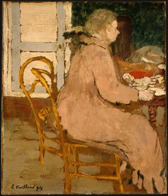 Breakfast, 1894, Edouard Vuillard Size: 26.9x22.9 cm Medium: oil on cardboard