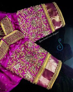 Never Seen Before Heavy Work Silk Saree Blouses are Here Kids Blouse Designs, Hand Work Blouse Design, Wedding Saree Blouse Designs, Silk Saree Blouse Designs, Maggam Work Designs, Designer Blouse Patterns, Bollywood, Indie, Hand Embroidery