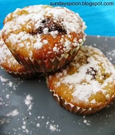 sundayspoon: Νηστίσιμα κεκάκια με μήλο και σοκολάτα