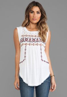 Free People Reckless Abandon Top in White http://effortlesseverydaystyle.blogspot.com/