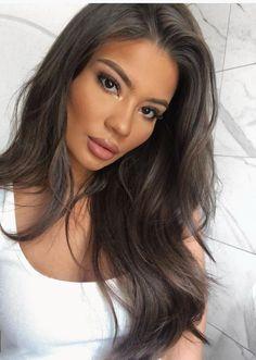 Hair colour ideas for brunettes – My hair and beauty Hair Inspo, Hair Inspiration, Dark Hair, Dark Ash Brown Hair, Ashy Hair, Dream Hair, Brown Hair Colors, Brunette Hair, Hair Dos