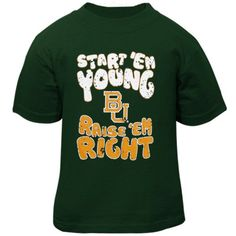 Baylor Bears Infant Start 'Em Young T-Shirt - Green