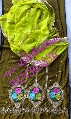 Just because we sharing a of the a up with # beautiful pastel green suit dupatta we used and and on dupatta n suit ready for my client fron We can customize this in any colour combination WhatsApp for more details 9814363836 Boutique Suits, Fashion Boutique, Hand Painted Dress, Green Suit, Kurti Designs Party Wear, Embroidery Suits, Indian Designer Wear, Punjabi Suits, Unique Colors