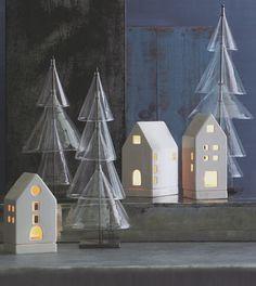 Scandinavian Modern Glass Christmas Trees