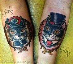 Fancy Cat Portrait Tattoos tattoo inspiration on pinterest cat tattoos ... Gorgeous Tattoos, Great Tattoos, New Tattoos, Cat Portrait Tattoos, Image Chat, Traditional Tattoo, Neo Traditional, Fancy Cats, Tattoo Project