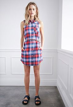 Belted Plaid Shirt Dress   Forever 21 - 2000132585- LOVE this!
